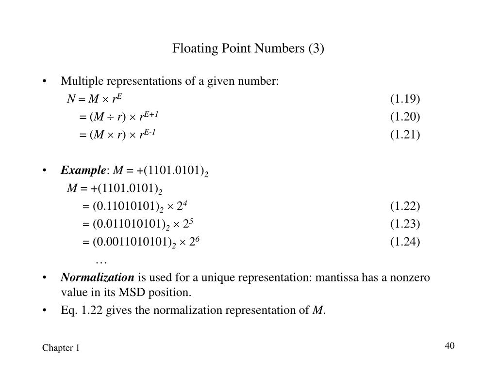 Floating Point Numbers (3)
