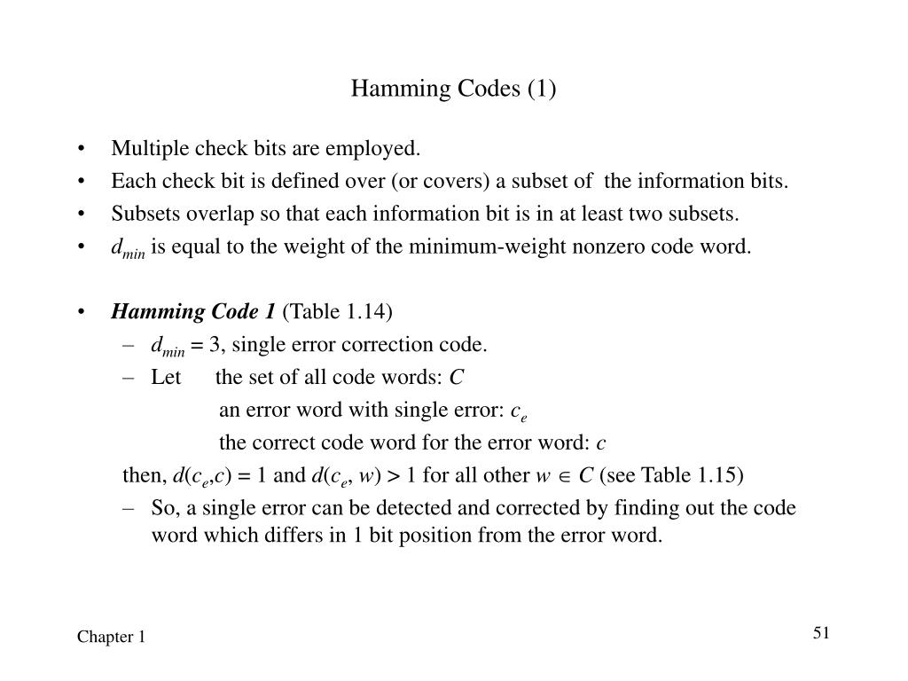 Hamming Codes (1)