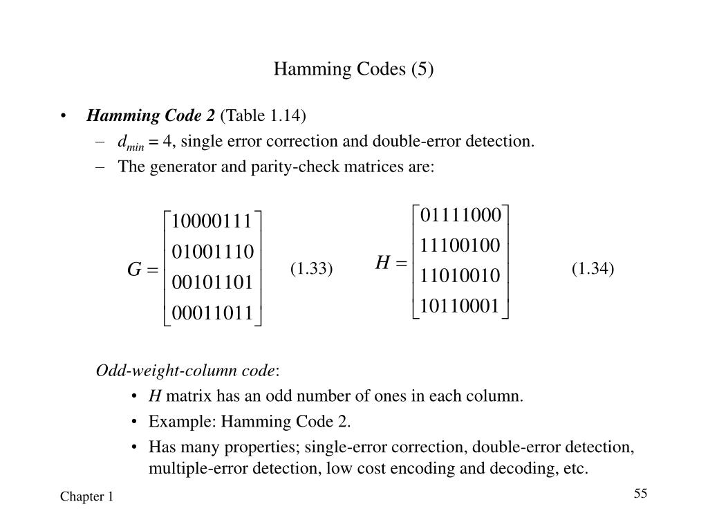 Hamming Codes (5)