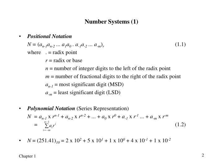 Number systems 1