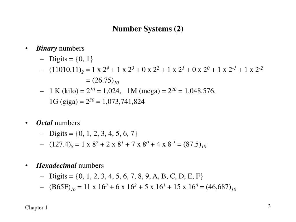 Number Systems (2)