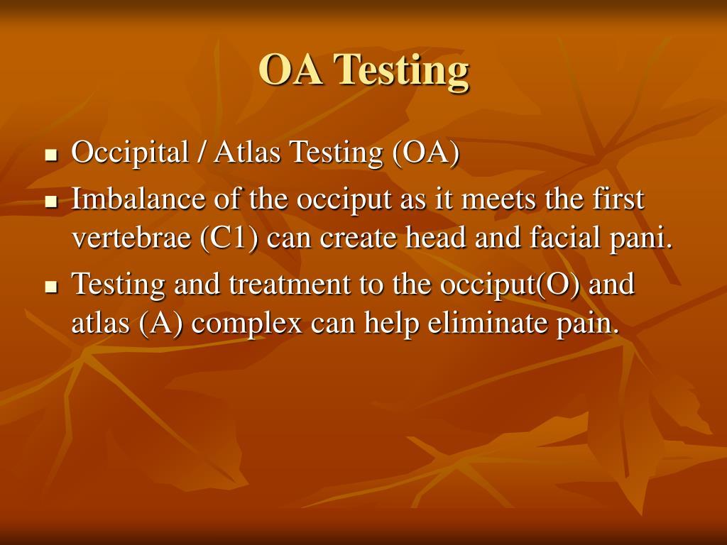 OA Testing