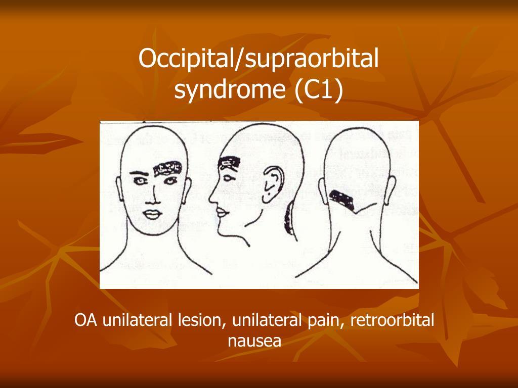 Occipital/supraorbital syndrome (C1)