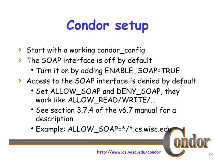 Condor setup