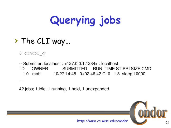 Querying jobs