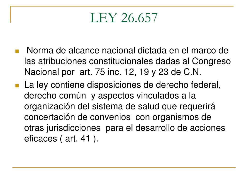 LEY 26.657