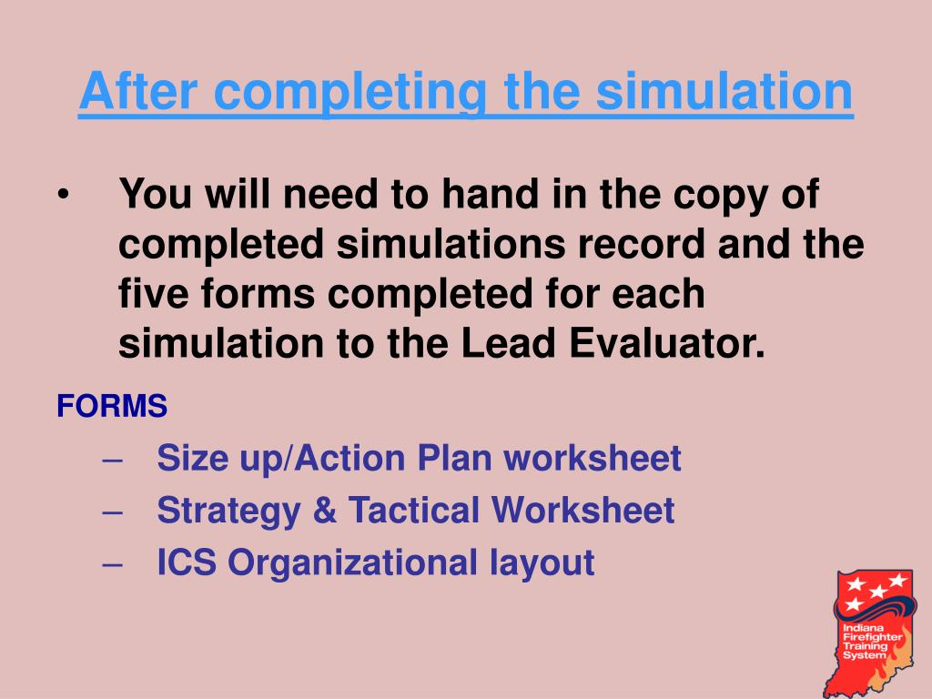 After completing the simulation
