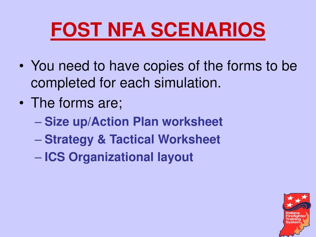 FOST NFA SCENARIOS