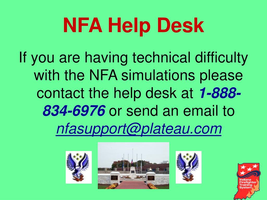 NFA Help Desk