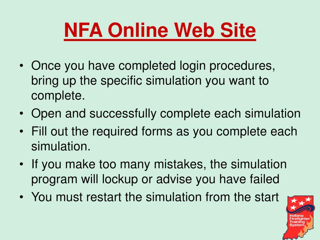 NFA Online Web Site