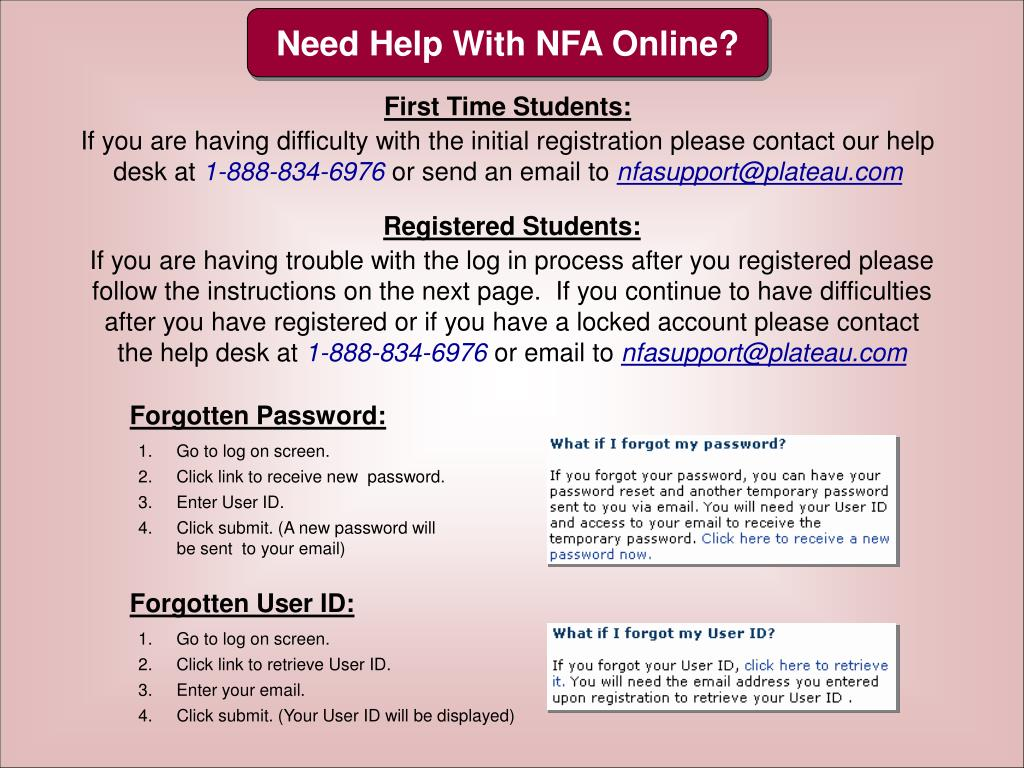 Need Help With NFA Online?