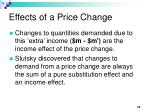 effects of a price change10