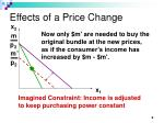 effects of a price change9