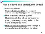 hick s income and substitution effects