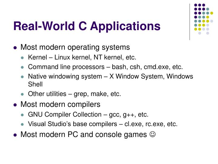 Real-World C Applications