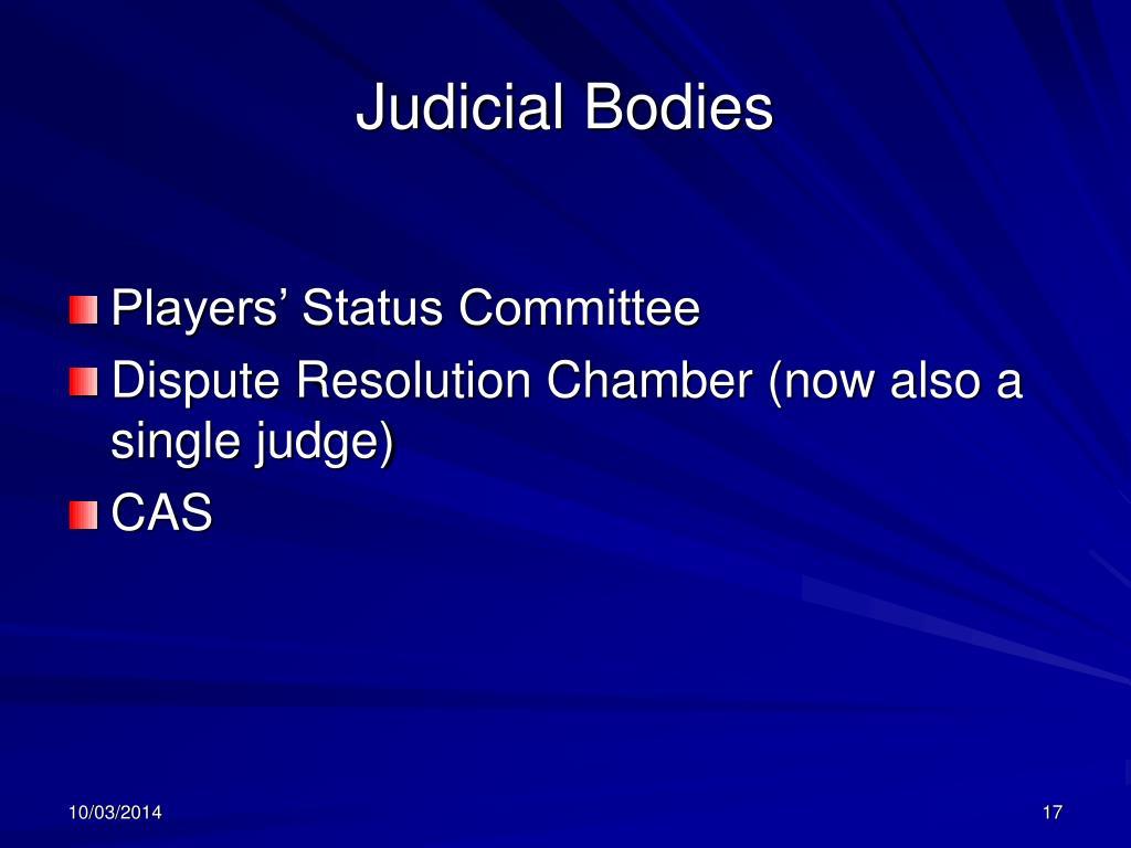 Judicial Bodies