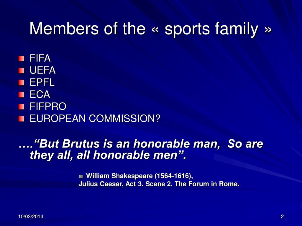 Members of the «sports family»