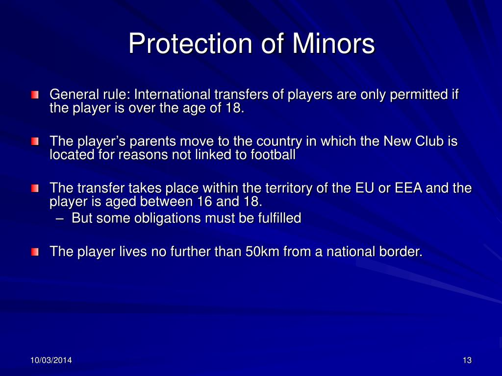 Protection of Minors