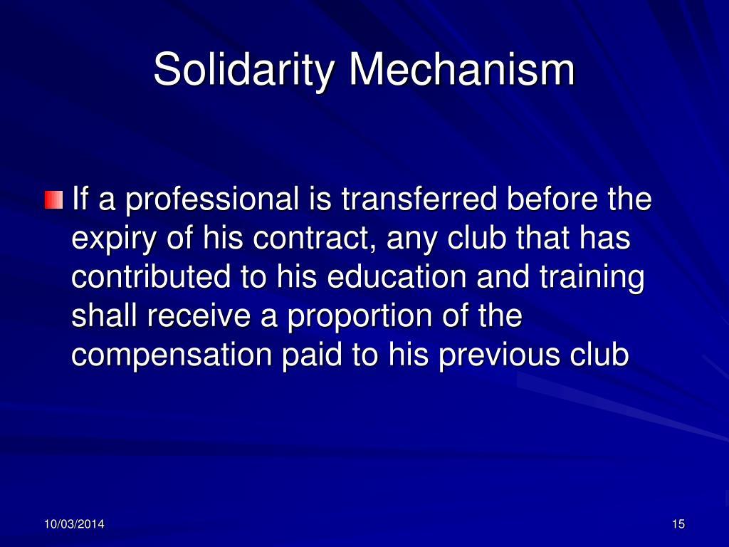 Solidarity Mechanism