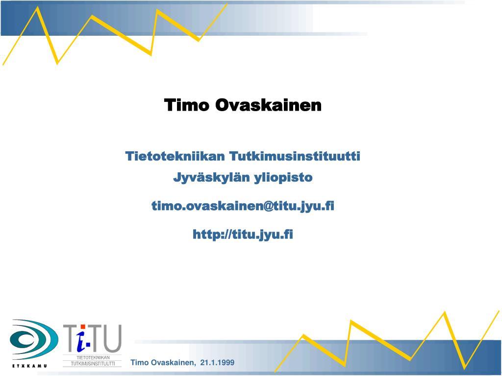 Timo Ovaskainen