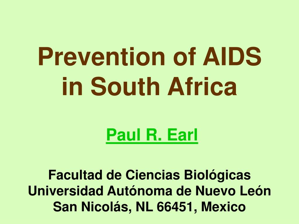 Prevention of AIDS in South Africa