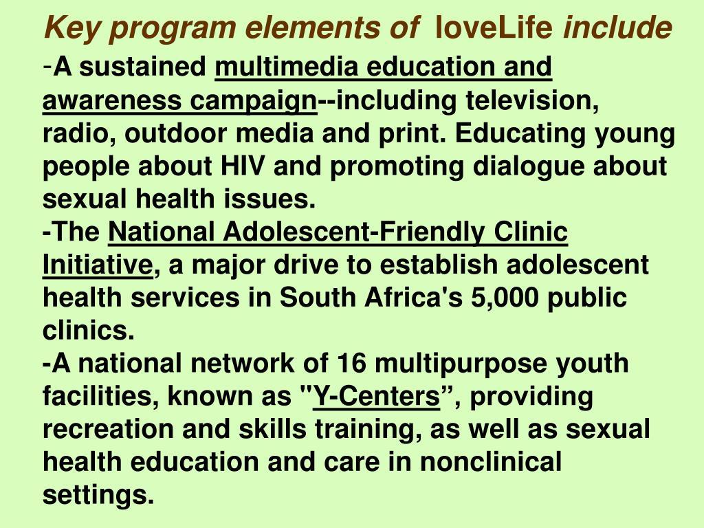 Key program elements of