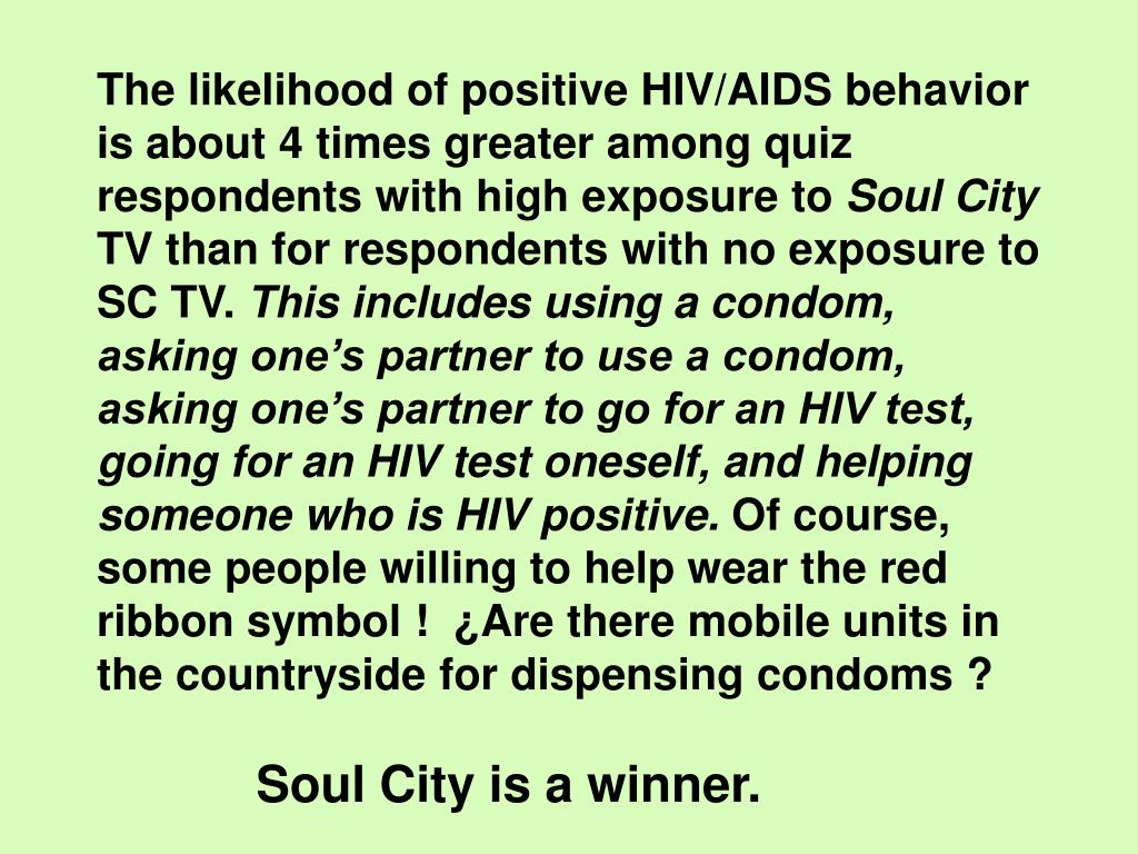 The likelihood of positive HIV/AIDS behavior is about 4 times greater among quiz respondents with high exposure to