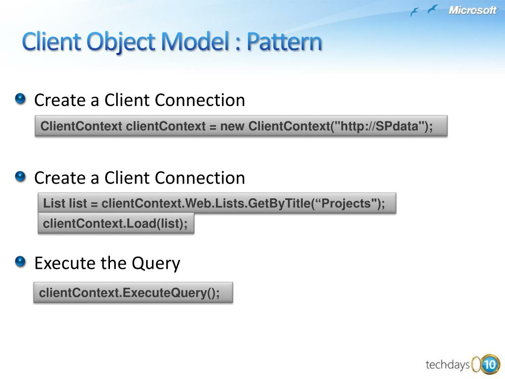 Client Object Model : Pattern