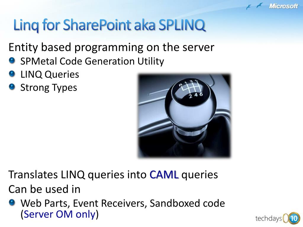 Entity based programming on the server
