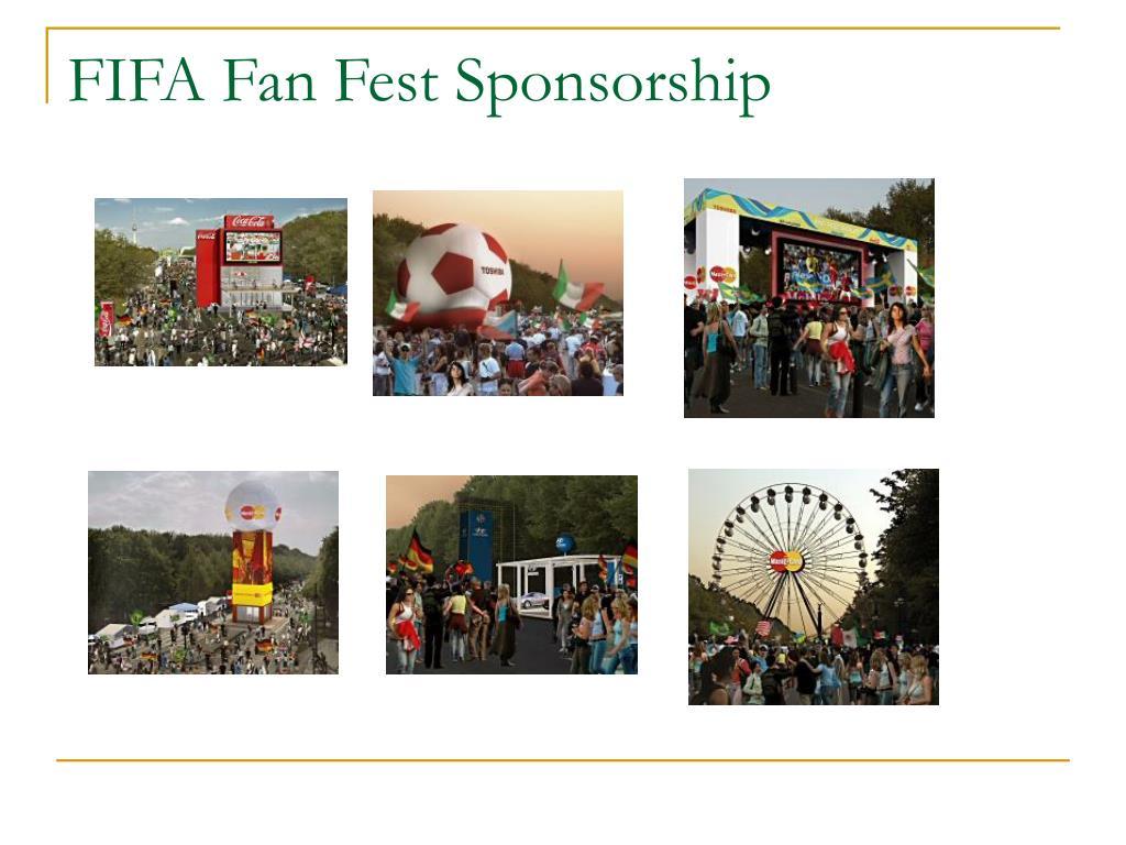 FIFA Fan Fest Sponsorship