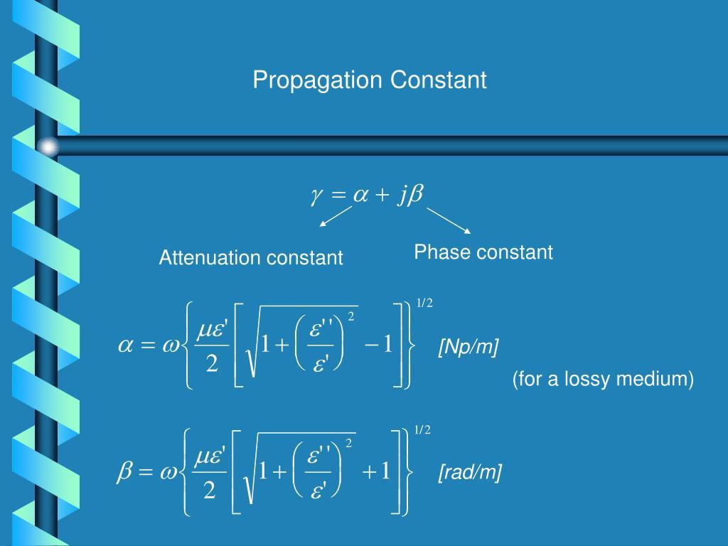 Propagation Constant