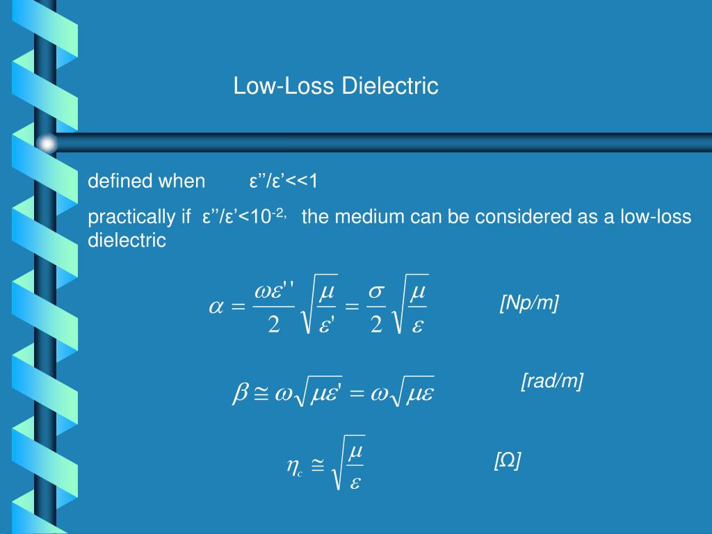 Low-Loss Dielectric