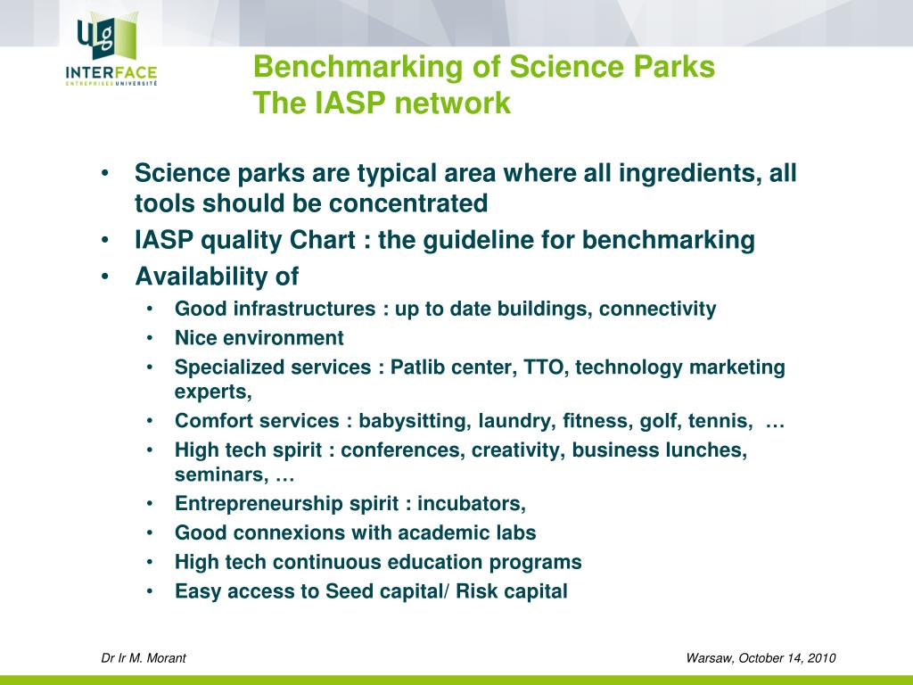 Benchmarking of Science Parks