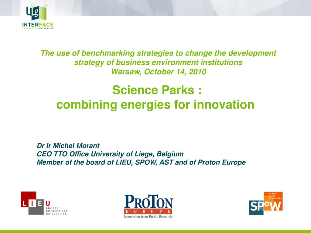 The use of benchmarking strategies to change the development strategy of business environment institutions