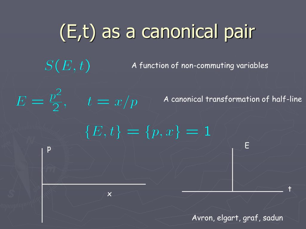 (E,t) as a canonical pair