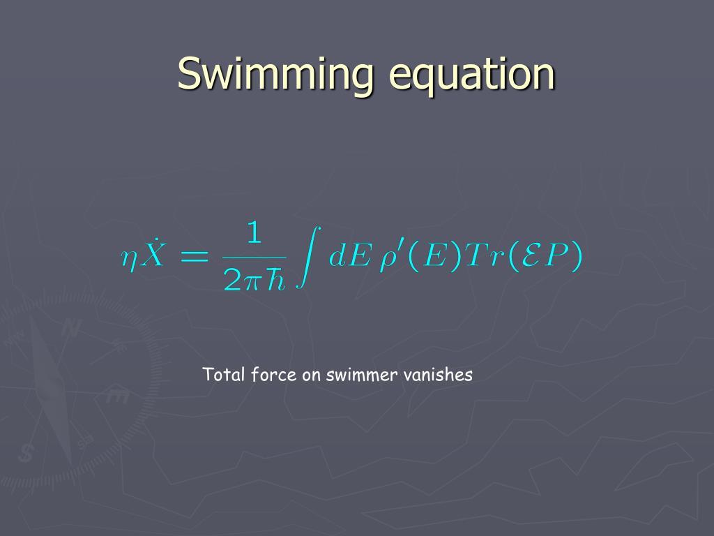 Swimming equation