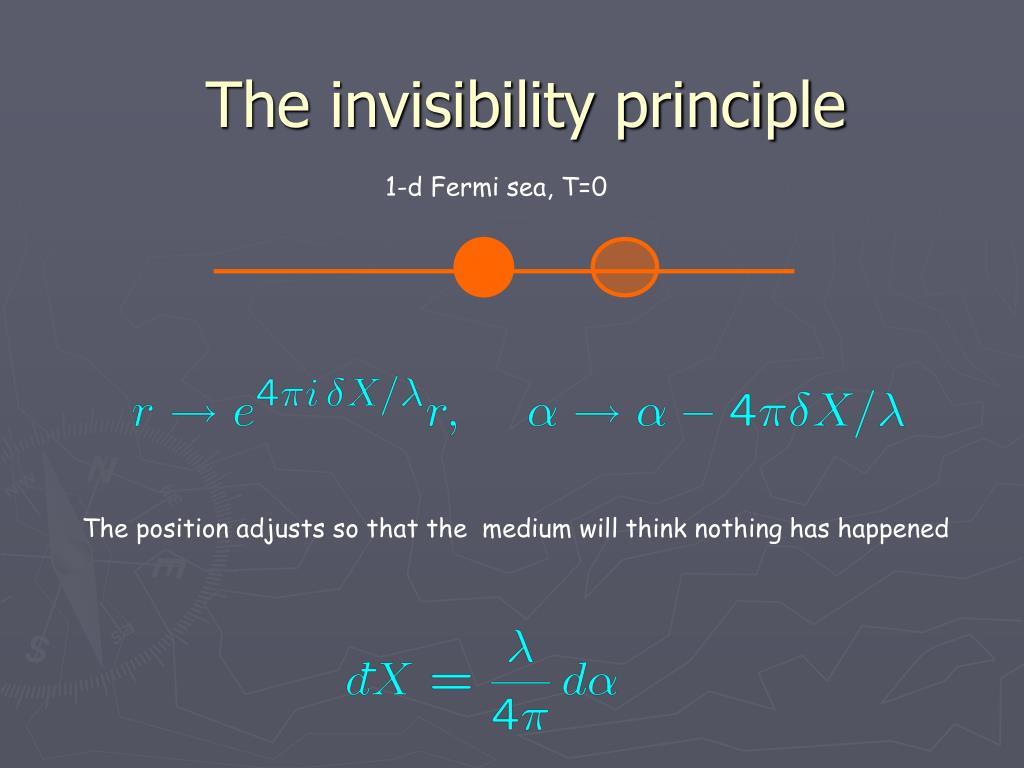 The invisibility principle