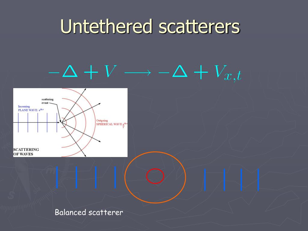 Untethered scatterers