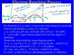 electron bunching process17