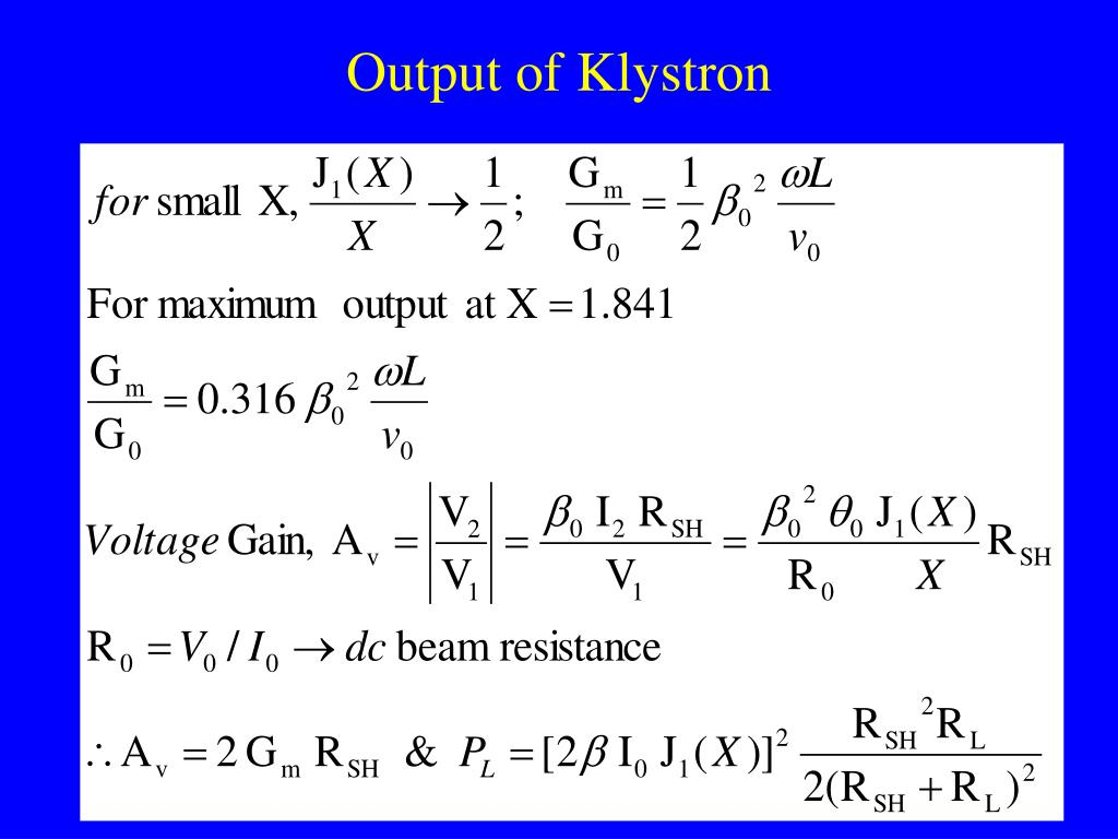 Output of Klystron