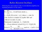 reflex klystron oscillator32