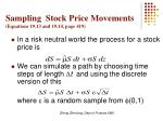 sampling stock price movements equations 19 13 and 19 14 page 419