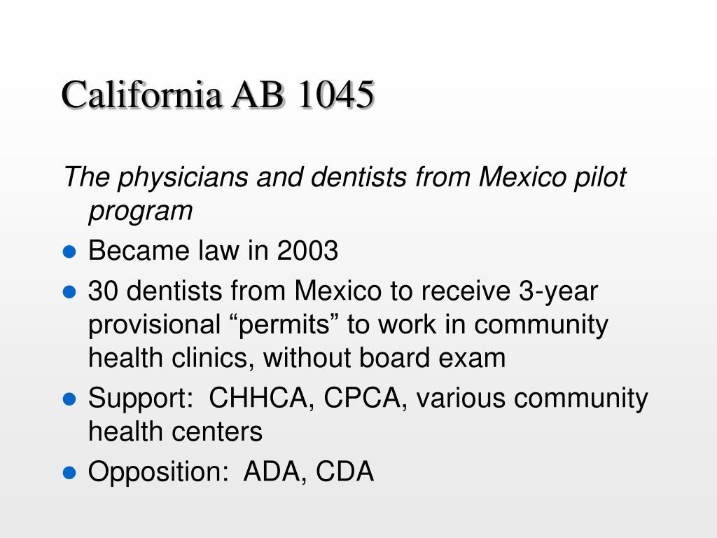 California AB 1045