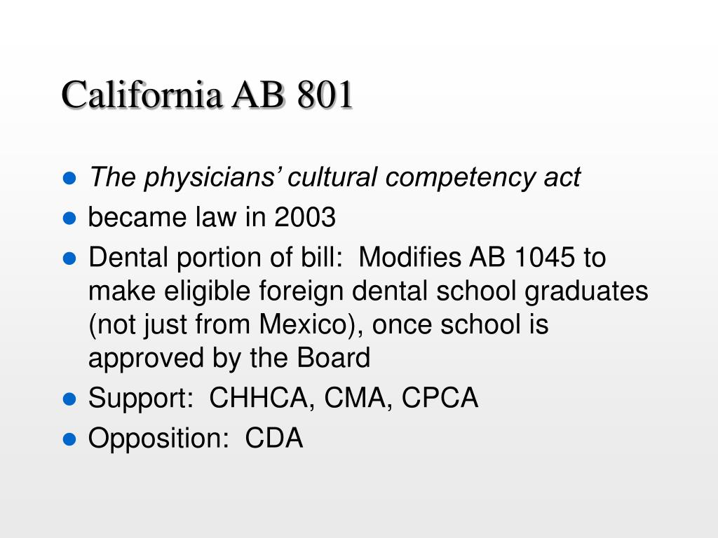 California AB 801