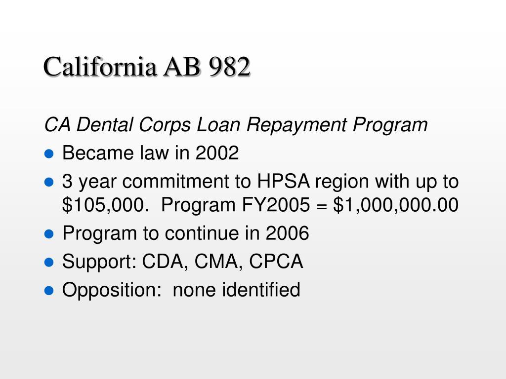 California AB 982