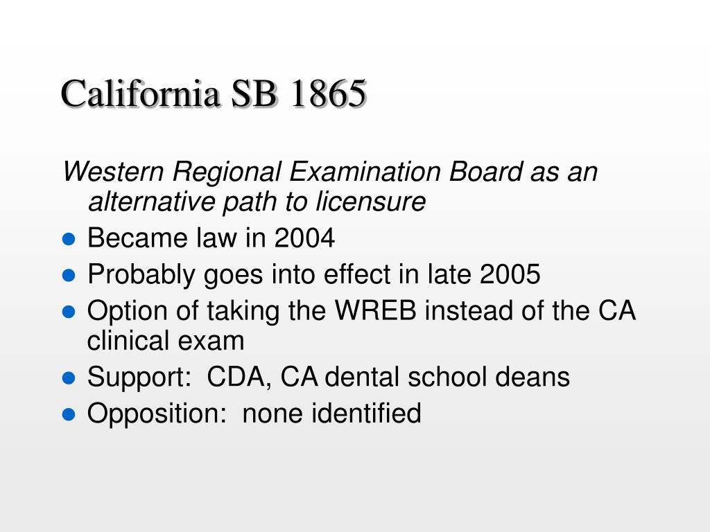 California SB 1865
