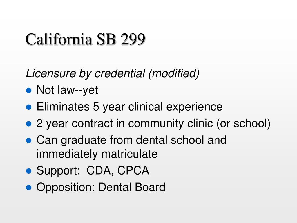 California SB 299
