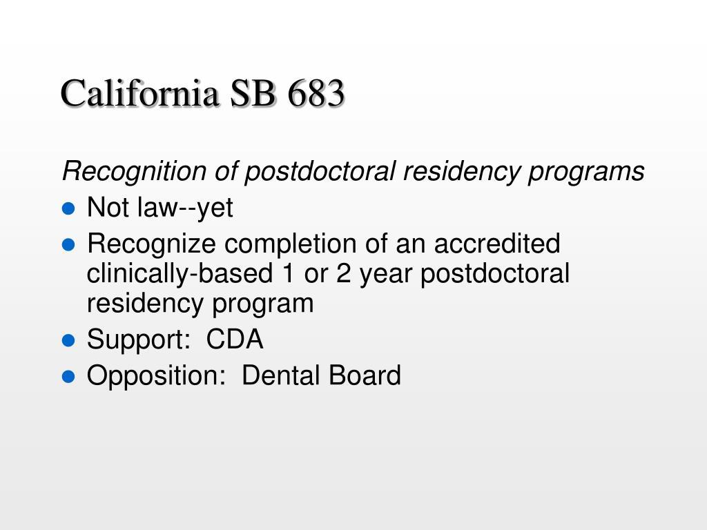 California SB 683