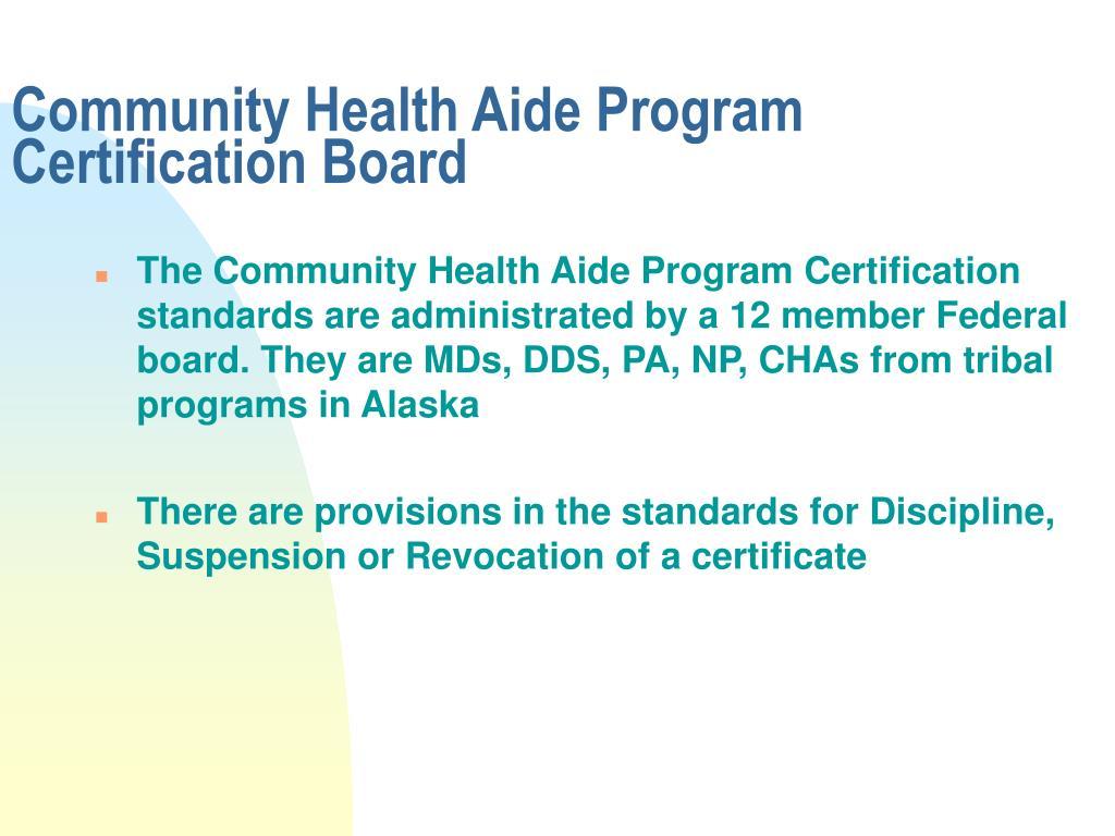 Community Health Aide Program Certification Board