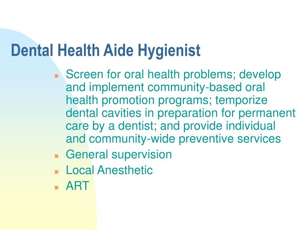 Dental Health Aide Hygienist